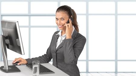 working woman: Woman, Working, Secretary.