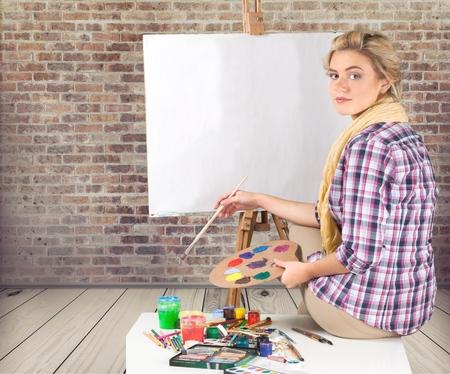 easel: Artist, visual, easel.