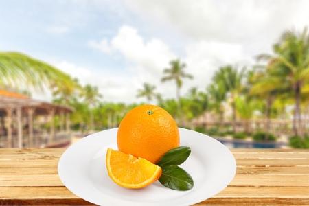 bisected: Orange, Tangerine, Leaf.