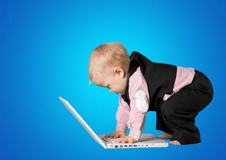 Baby, Simplicity, Computer. Stock Photo