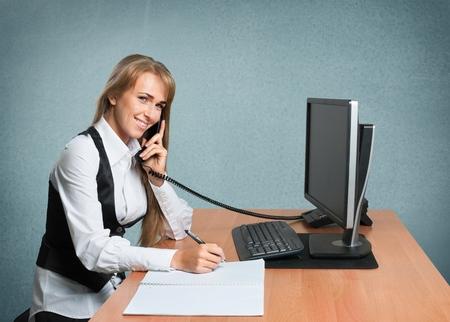 office women: Telephone, Office, Women.