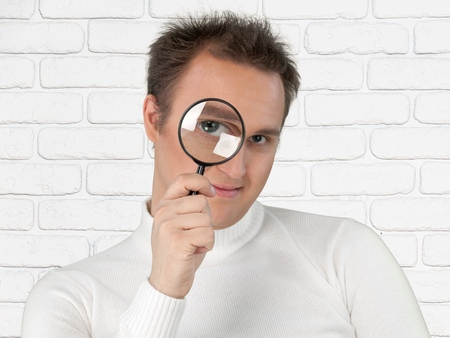 kidding: Magnifying Glass, Loupe, Searching.