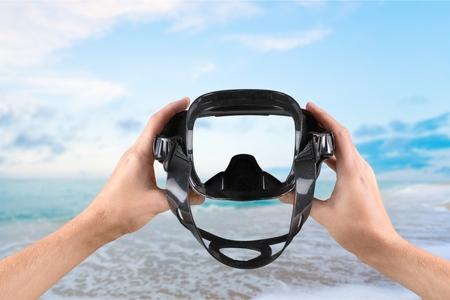 swimming goggles: Scuba Mask, Beach, Swimming Goggles.