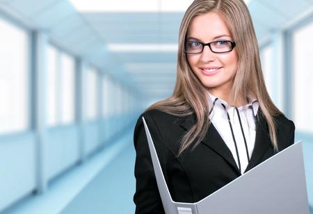 file clerk: Women, Ring Binder, Business.