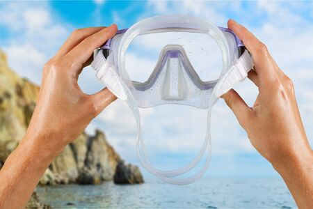 beach goggles  Swimming Beach Stock Photos Images. Royalty Free Swimming Beach ...