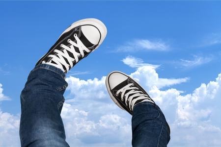 sports shoe: Shoe, Canvas Shoe, Sports Shoe. Stock Photo