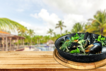 nether: Photo, seafood, outdoor. Stock Photo