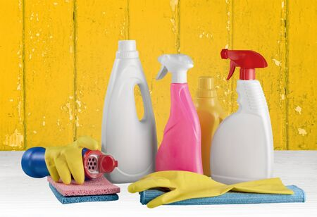 disinfectant: Disinfectant, Cleaning, Bottle. Stock Photo