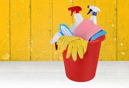 cleanup: Cleaning, Bucket, Cleanup. Stock Photo