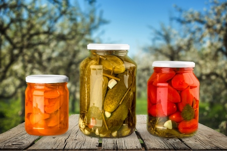 canning: Canning, Jar, Food. Stock Photo