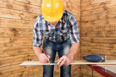 home addition: Worker, wood, working.