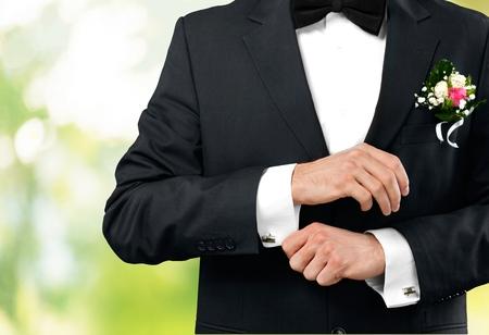 cuff link: Cuff Link, Tuxedo, Cuff. Stock Photo