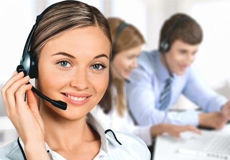 Service, représentant du service à la clientèle, des femmes. Banque d'images