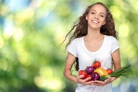 vida sana: Mujeres, Estilo de vida saludable, alimentaci�n saludable. Foto de archivo