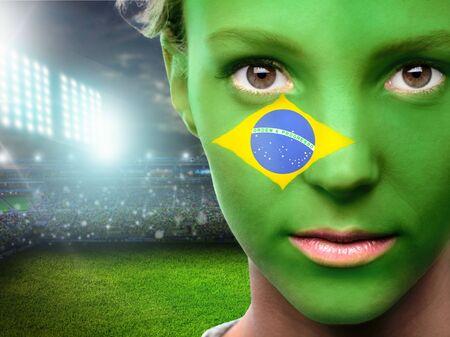 fanatical: Brazil, Flag, Human Face.