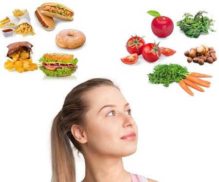 comida: Alimentos, lixo, mulheres. Banco de Imagens