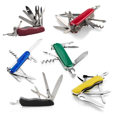 penknife: Penknife, Work Tool, White Background.