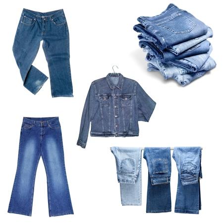 in jeans: Jeans, pantalones, aislado. Foto de archivo
