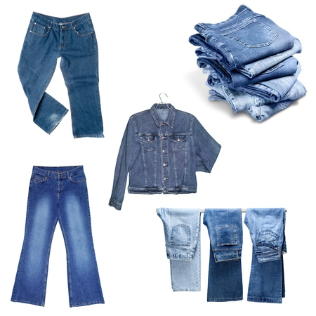 cotton  jeans: Jeans, Pants, Isolated.