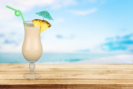 pina: Cocktail, Pina Colada, Drink. Stock Photo