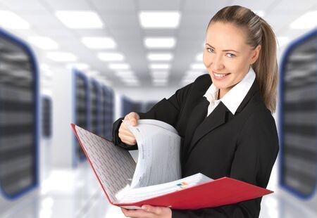 file clerk: Women, Business, File. Stock Photo