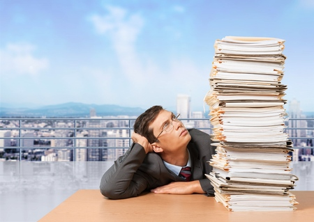 office physical pressure paper: Document, Stack, Paperwork.