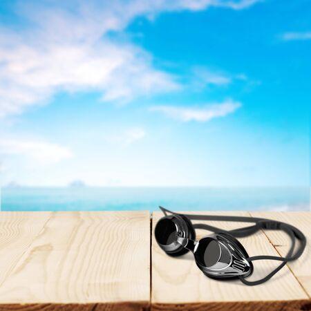 swimming goggles: Swimming Goggles, Swimming, Isolated.