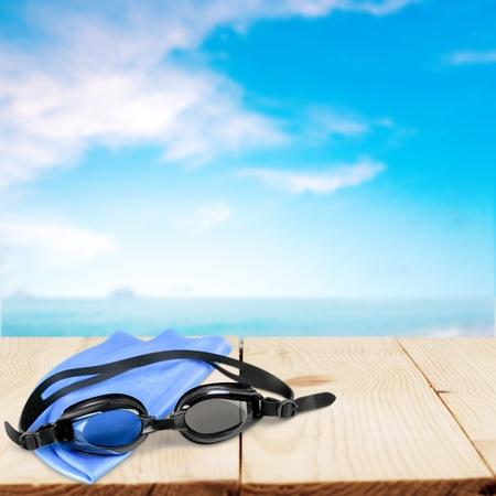 personal accessory: Swimming, Swimming Goggles, Cap.