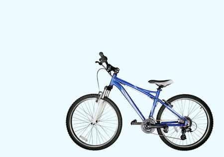 racing bike: Bicycle, Mountain Bike, Isolated.