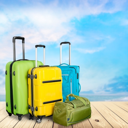 polycarbonate: Isolated, backpack, polycarbonate. Stock Photo