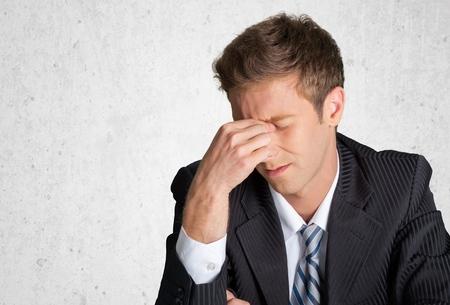 southern european descent: Emotional Stress, Businessman, Men. Stock Photo
