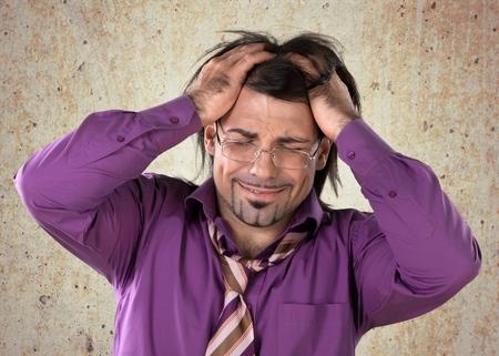 lament: Frustration, Men, Businessman. Stock Photo