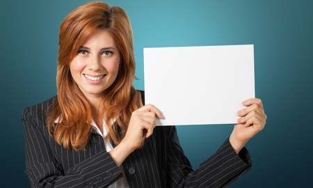 isolated sign: Holding, Sign, Message. Stock Photo