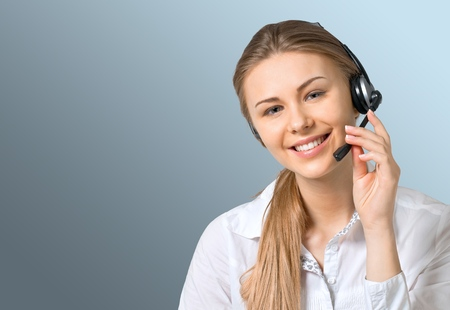 customer service representative: Connection, Telephone, Customer Service Representative. Stock Photo
