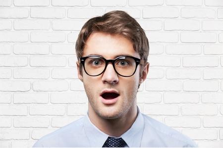 astonishment: Astonishment, glasses, nerd.