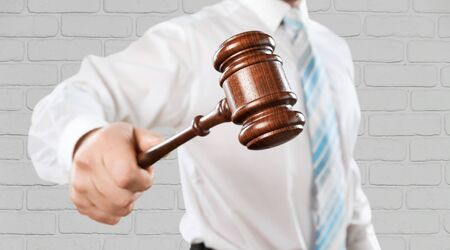 information technology law: Auction, Internet, Law. Stock Photo