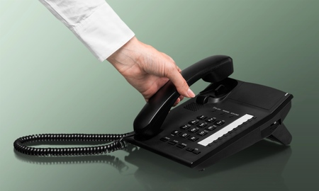 dialing: Telephone, On The Phone, Dialing. Foto de archivo