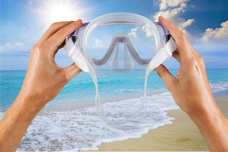 scuba goggles: Scuba Mask, Beach, Swimming Goggles.