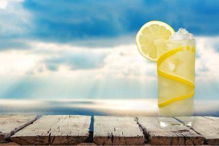 vertical image: Lemonade, Refreshment, Cold Drink.