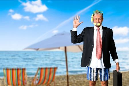flipper: Humour, Snorkel, Flipper. Banque d'images