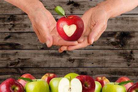 silhouette coeur: Coeur, Apple, l'Amour.