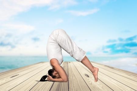 good posture: Yoga, la flexibilidad, la Mujer.
