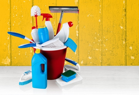 the equipment: Cleaning, Cleaning Equipment, Equipment. Stock Photo