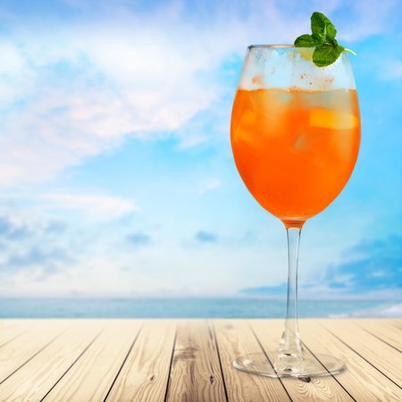 blue hawaiian drink: Cocktail, cocktails, martini. Stock Photo