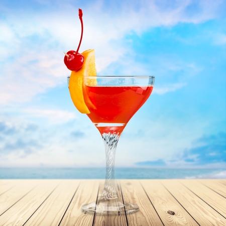 blue hawaiian drink: Cocktail, cocktails, martini. Stock Photo