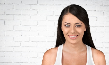 rosto humano: Mulheres, sorrindo, rosto humano. Banco de Imagens