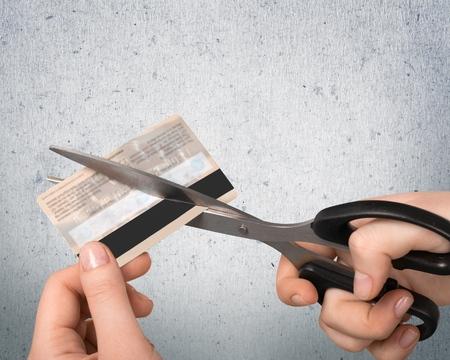credit card debt: Credit Card, Debt, Scissors.