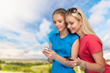 text messaging: Mobile Phone, Telephone, Text Messaging. Stock Photo
