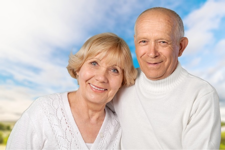 only two people: Senior Adult, People, Senior Couple. Stock Photo