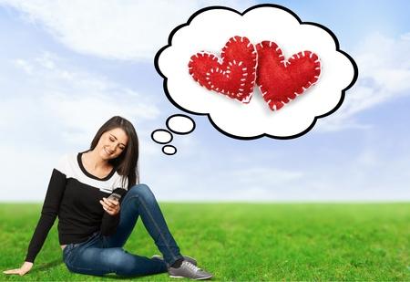 chicas adolescentes: Teléfono móvil, Teléfono, Teenage Girls.